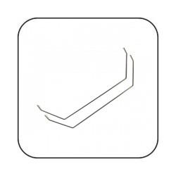 SWB10 Stabi 1.0mm (2 Stück) / SWB10 Sway Bar 1.0mm (2 Piece)