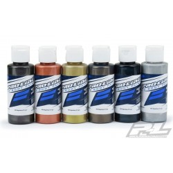 Pro-Line RC Body Paint Metallic Color Set (6 Pack) Carcoal, Copper, Gold, Pewter,DeepBlue,Aluminum   (PRO6323-05)