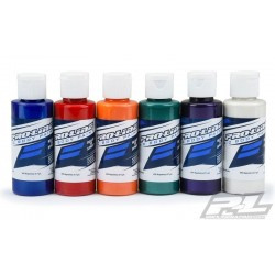 Pro-Line RC Body Paint All Pearl Color Set (6 Pack) Blue, Red, Orange, Green, Purple, White   (PRO6323-06)