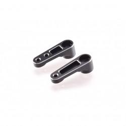RD B6 Aluminium Steering Bellcrank Set (black)  (RDRP0288-BLK)