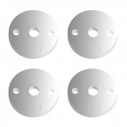 Associated FT 12mm Pistons V2, 2x1.8, flat   AE91629